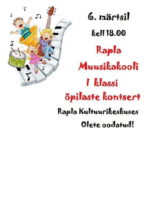 5351fc09021 Rapla Muusikakooli I klassi õpilaste kontsert – RAPLA KULTUURIKESKUS