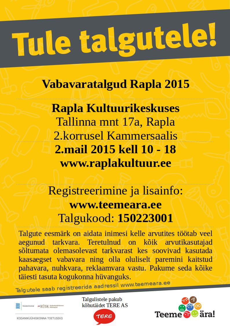 Tule_talgutele_kuulutus_A4-Rapla-2015