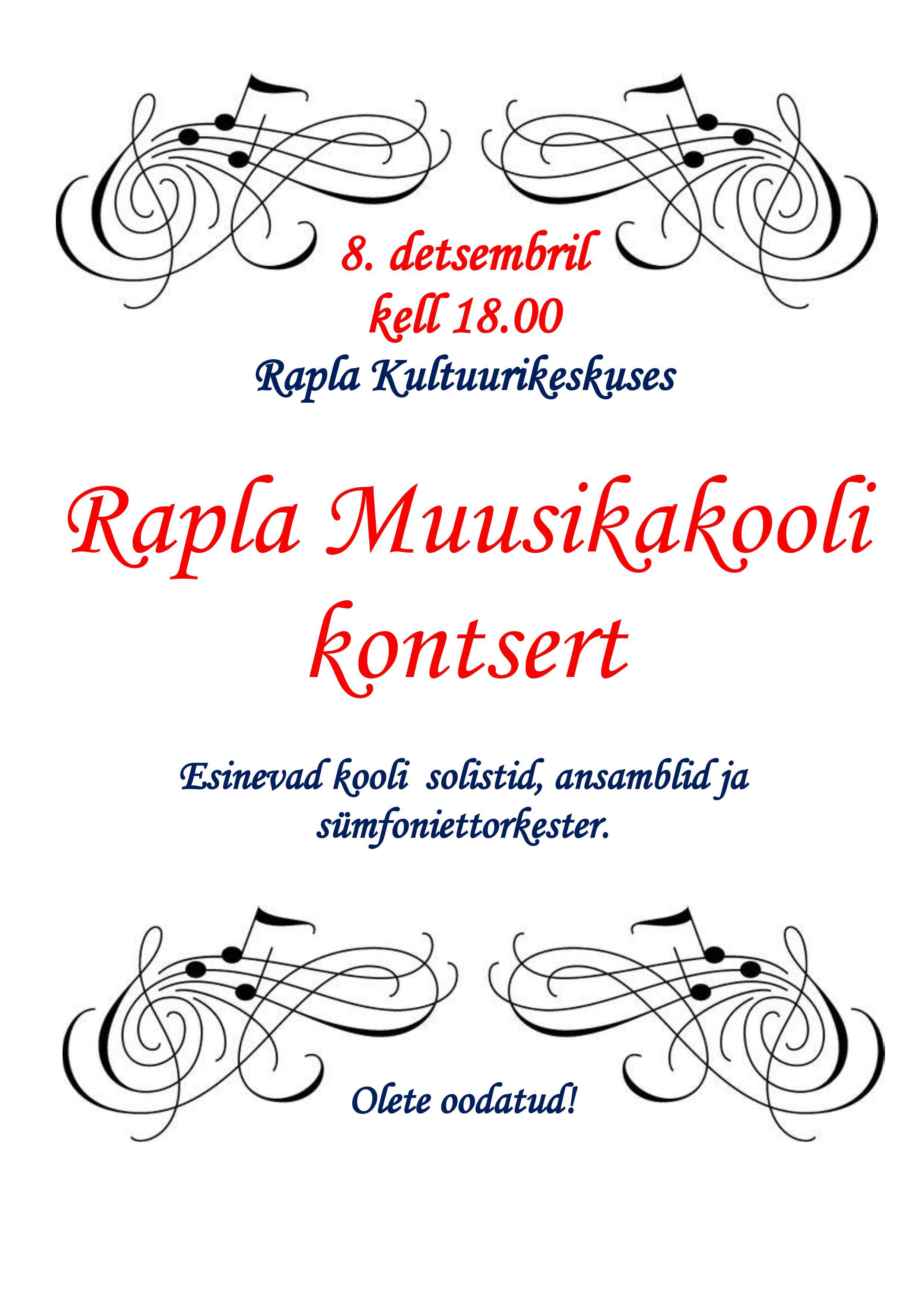 Rapla Muusikakooli kontsert