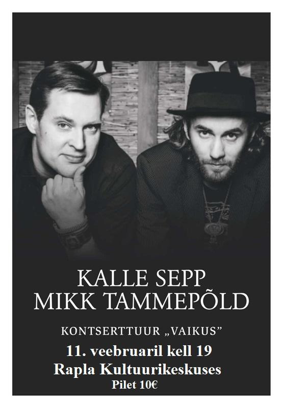 """Kalle Sepp ja Mikk Tammepõld kontserttuur """"Vaikus"""""""