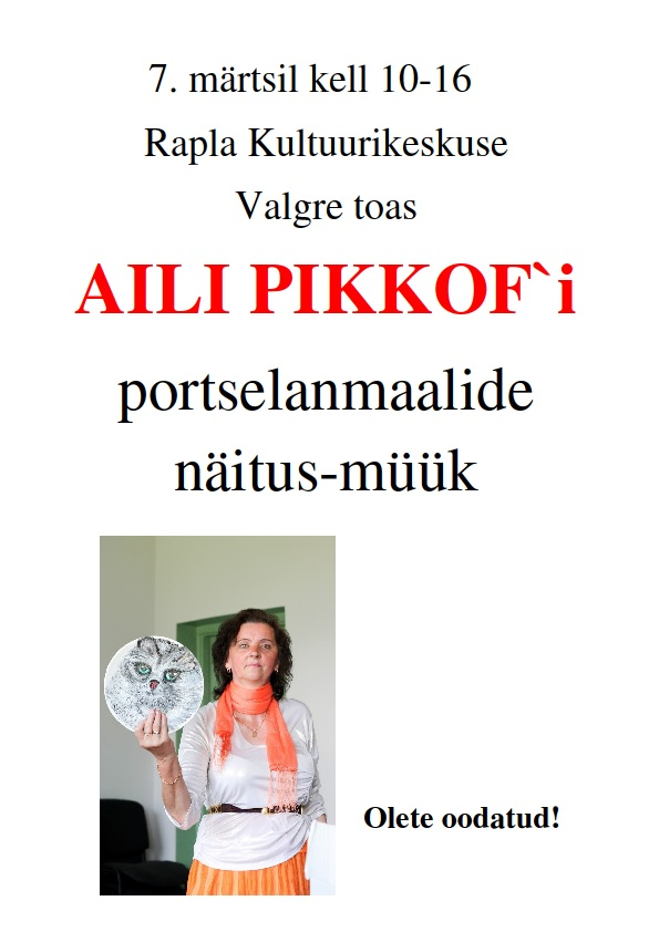 Aili Pikkofi portselanmaalid