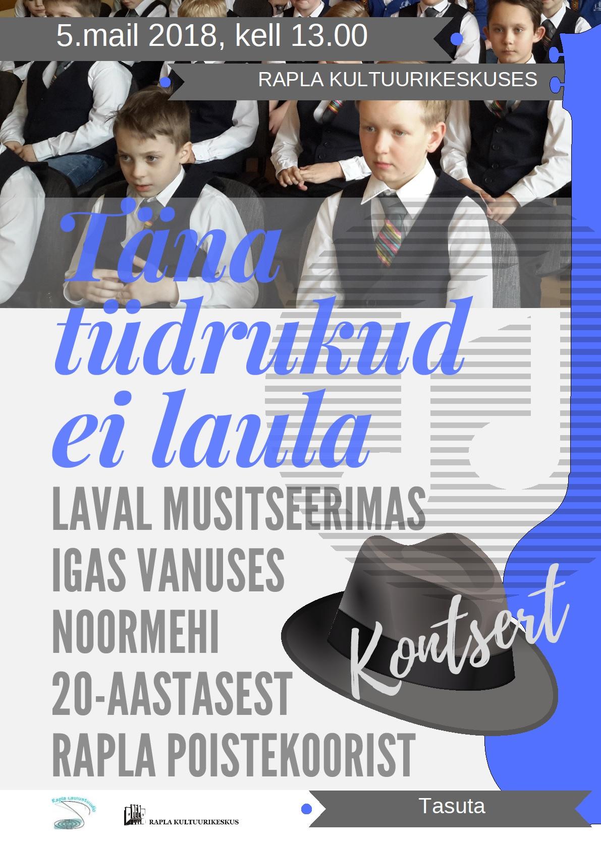 Rapla Poistekoor 20, juubelikontsert