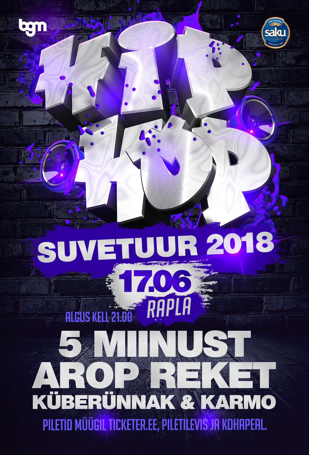 Hip Hop suvetuur 2018