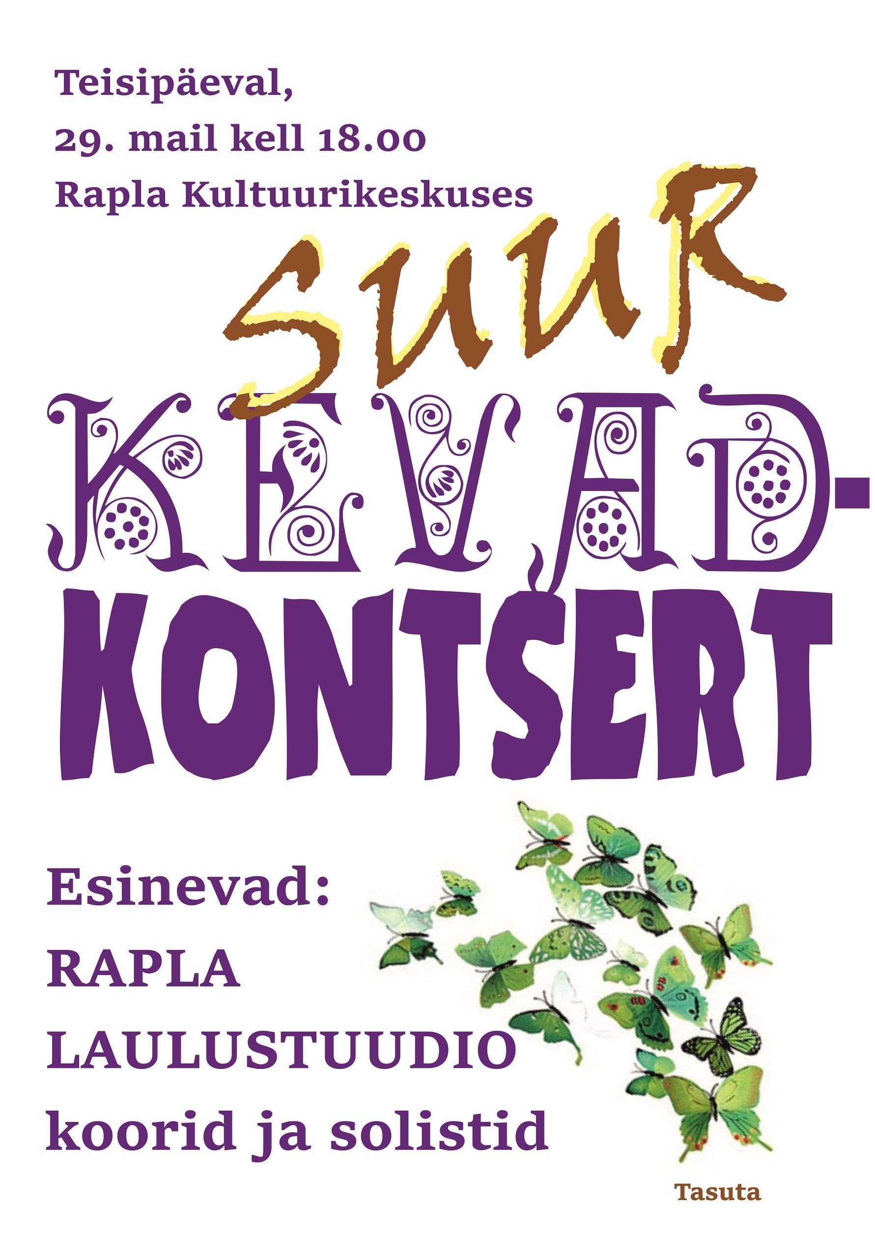 Rapla Laulustuudio kevadkontsert