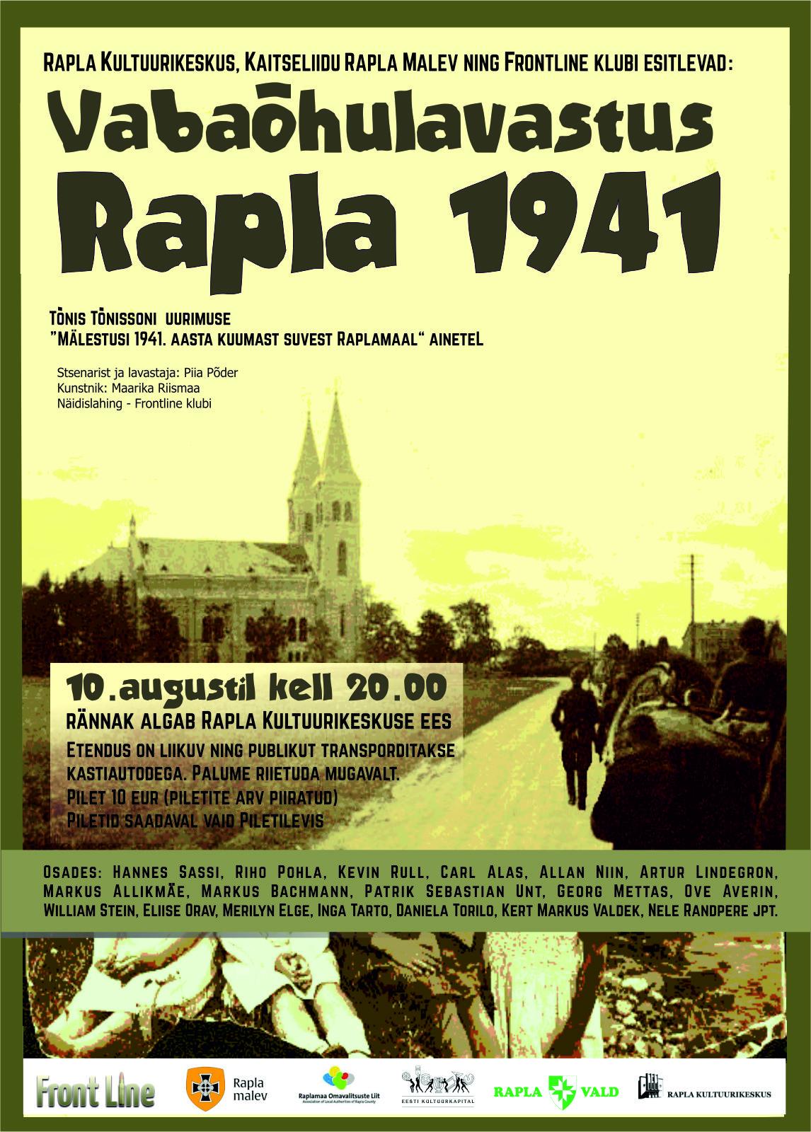 """Dokumentaalne vabaõhulavastus """"Rapla 1941"""""""