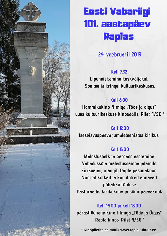 Eesti Vabariik 101 Raplas