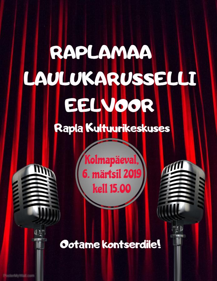 Raplamaa Laulukarusselli eelvooru kontsert