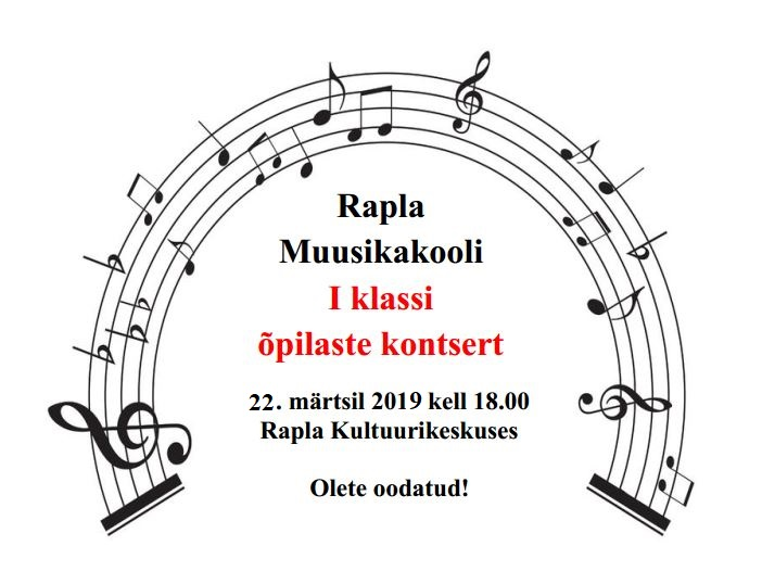 Rapla Muusikakooli I klassi kontsert