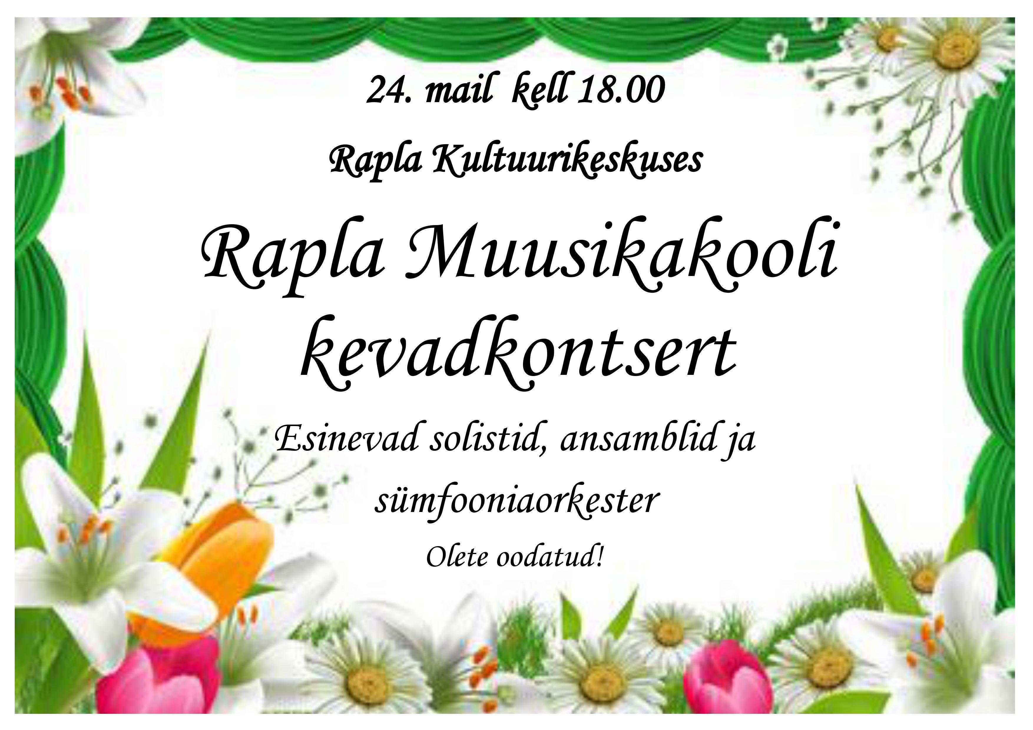Rapla Muusikakooli kevadkontsert