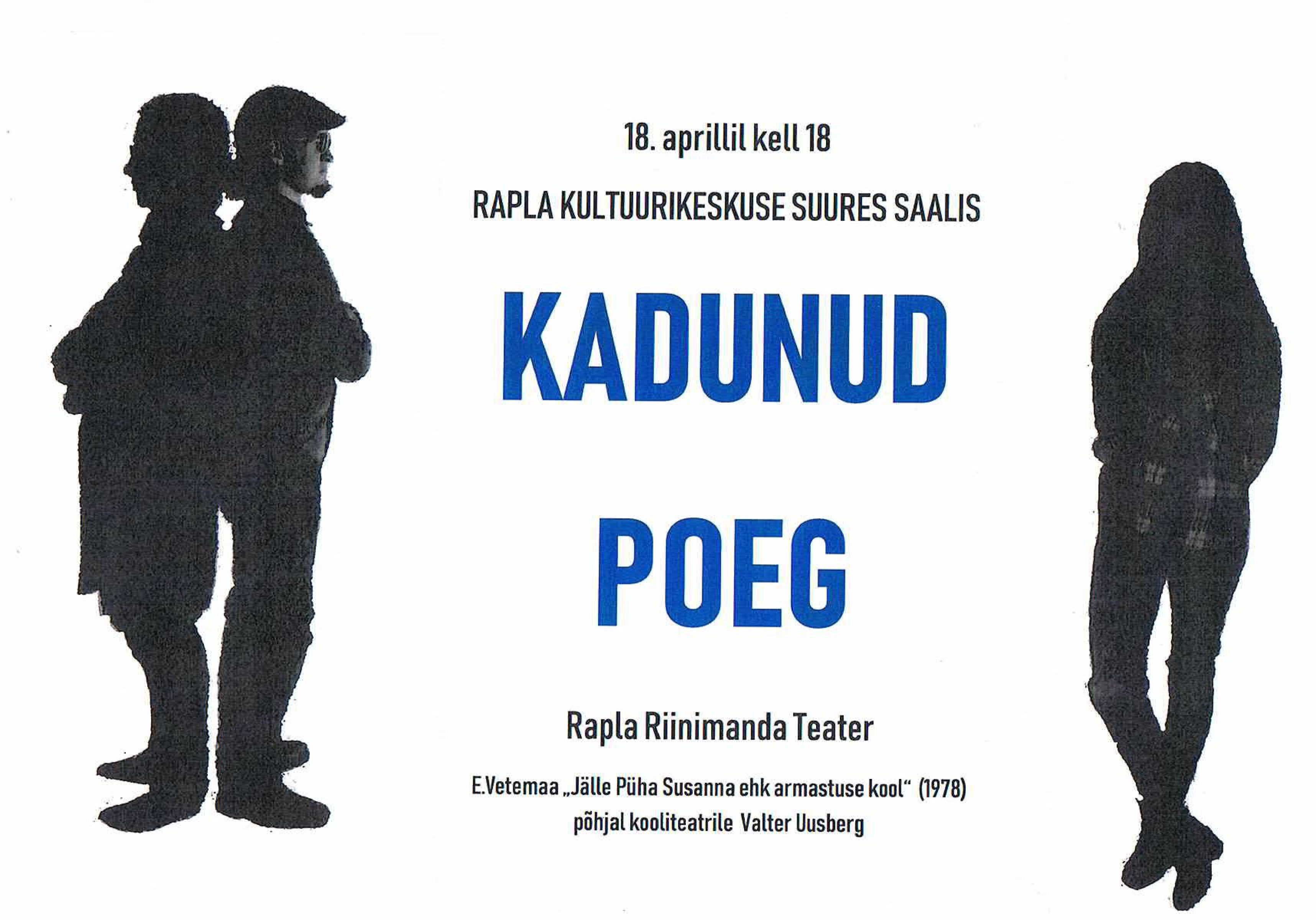 """Rapla Riinimanda Teatri etendus """"Kadunud poeg"""""""