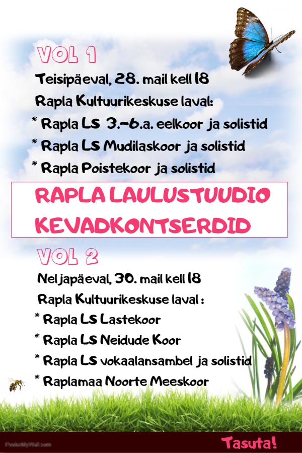 Rapla Laulustuudio kevadkontserdid