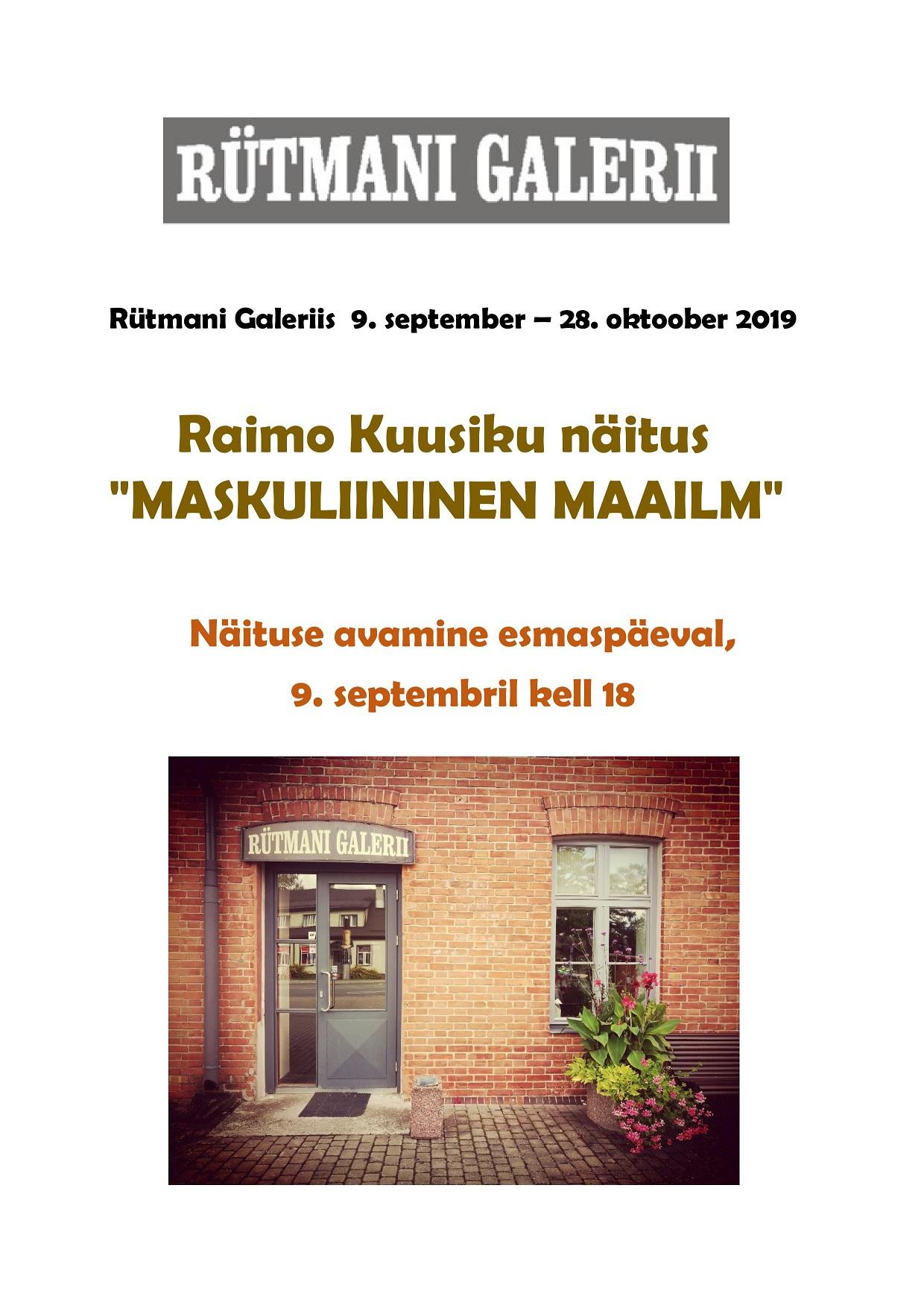 Raimo Kuusiku näituse avamine