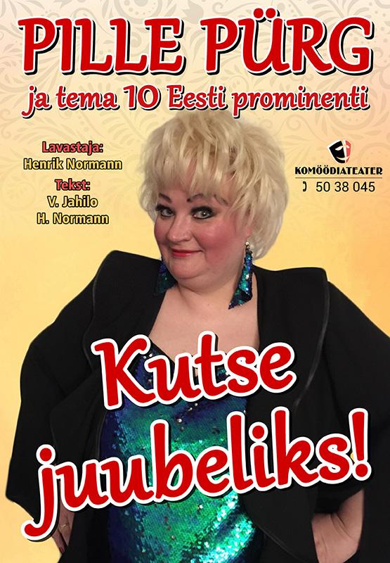 """Komöödiateatri etendus """"Juubeliks suu puhtaks!""""-toimub 08.12.2020"""