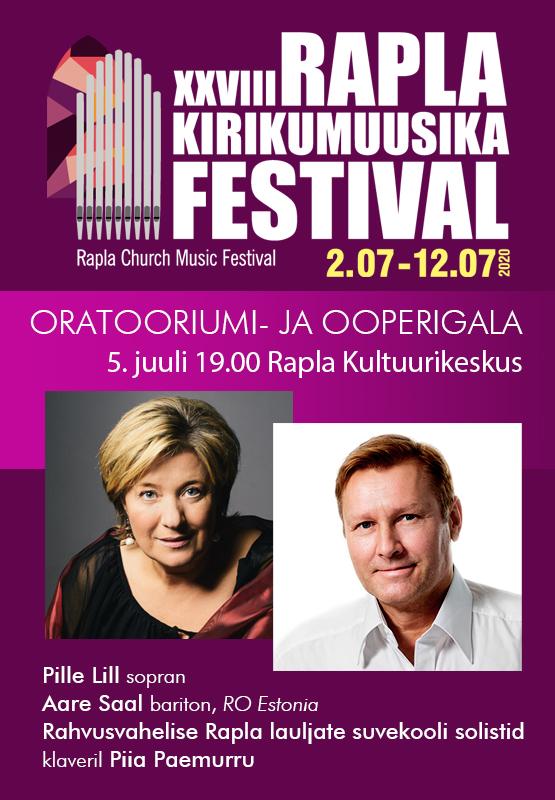 Rapla Kirikumuusika Festivali oratooriumi- ja ooperigala kontsert