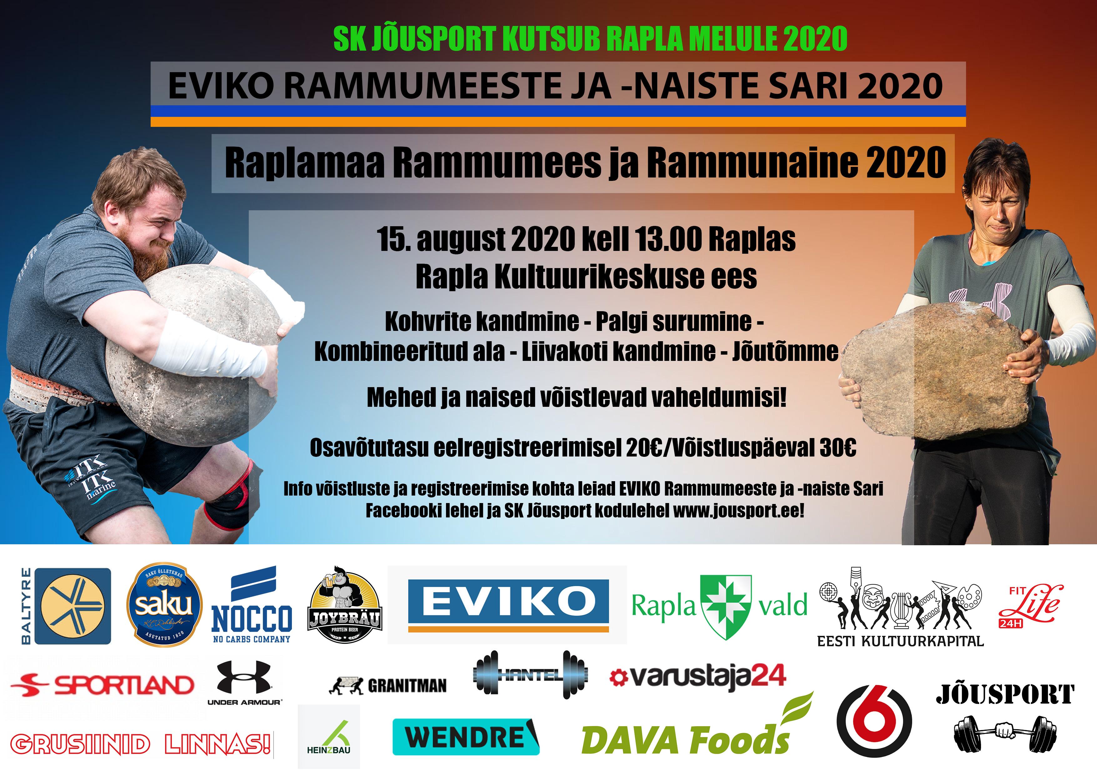 Raplamaa Rammumees ja Rammunaine 2020