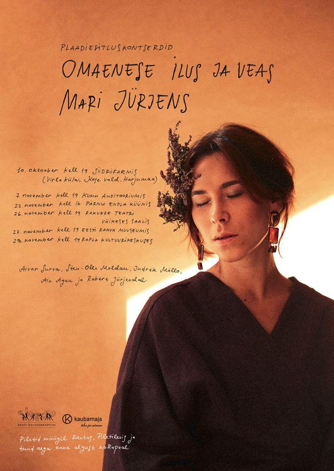 """Mari Jürjensi plaadiesitlus kontsert """"Omaenese ilus ja veas"""""""