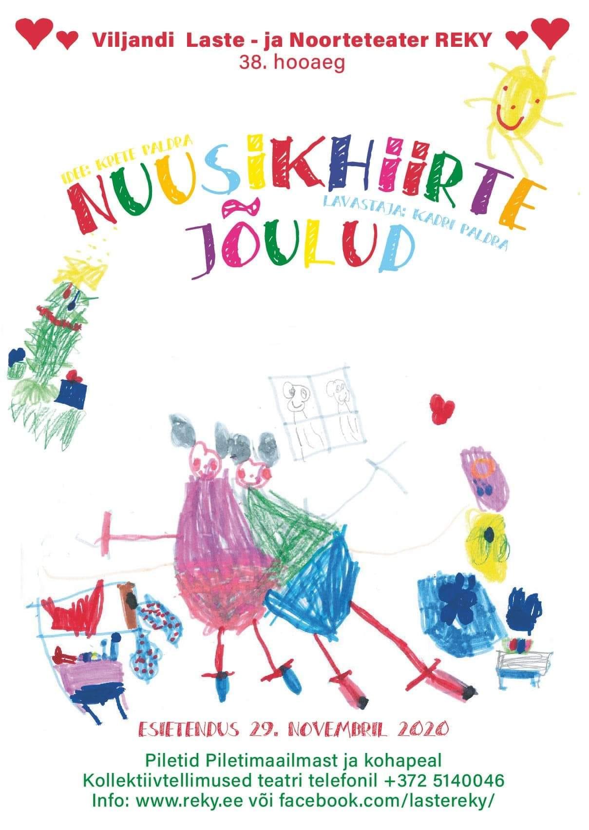"""Viljandi Laste- ja Noorteteater Reky etendus """"Nuusikhiirte jõulud"""""""