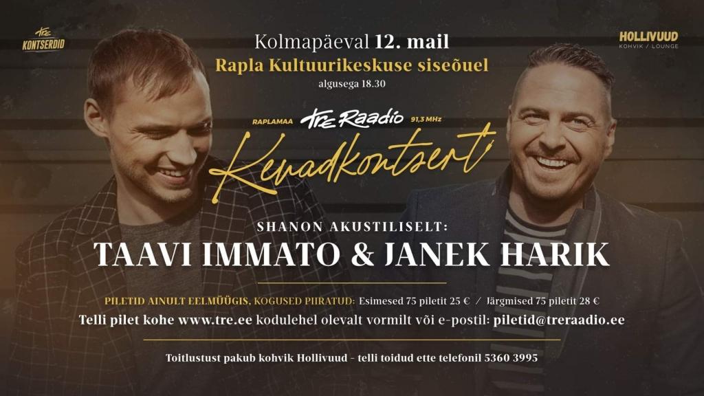 Kevadkontsert Taavi Immato ja Janek Harik